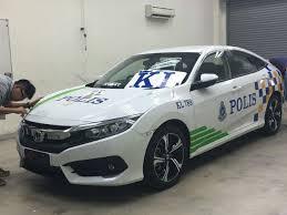 kereta vellfire terbaru polis guna honda civic 2016 sebagai kereta peronda
