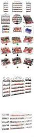 nail practice and display 6 tier clear acrylic nail polish rack