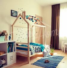 Toddler Platform Bed Children Bed House Frame Bed Children Furniture Nursery Crib