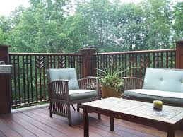 ipe deck with prairie style railing fine homebuilding