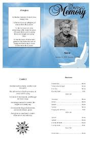 funeral program software 33 best obituary program template images on