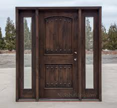 Wood Exterior Door Rustic Wood Exterior Doors Cl 1778