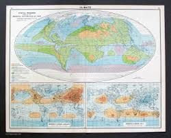 Climate World Map by Climate Vintage Maps