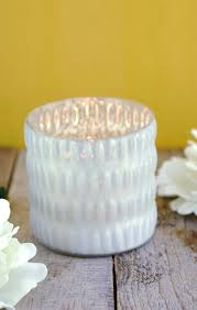 white mercury glass votive cup 3 5