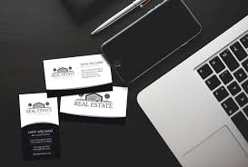 Real Estate Agent Business Card Template by Elegant Real Estate Business Card J32 Design