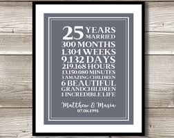 25 year anniversary gift ideas 25 year anniversary gift silver wedding anniversary gift for