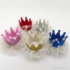 felt hair accessories glliter felt hair crown baby hair pin tiara princess