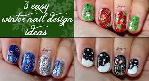 three easy christmas designs for short nails 2 youtube