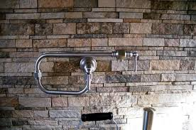 Rock Backsplash Kitchen by Anyone Have A Stacked Stone Backsplash