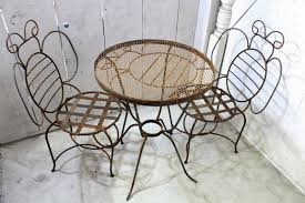 Wrought Iron Patio Furniture Set by Wrought Iron Adult Bumble Table And Chair Set Metal Patio Seating