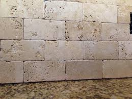 Tumbled Marble Backsplash Sanded Or Unsanded Grout Ceramic - No grout tile backsplash