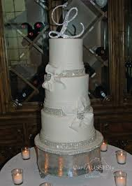 wedding cakes with bling white bow and bling wedding cake cakecentral