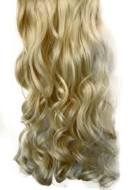 Synthetic Hair Extension by Full Head Clip In Hair Extensions Curly Wavy 20 22