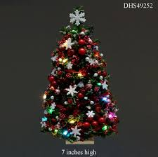 miniature lighted christmas tree christmas lights decoration
