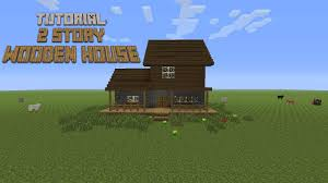 2 Story Houses Minecraft How To Build A 2 Story Wooden House Tutorial Youtube