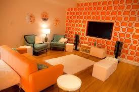 accessories personable orange living room home design ideas