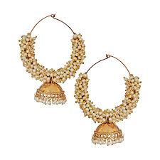 buy earrings online buy pearl bunch bali jhumka earrings online best prices in india