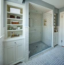 Shower Tile Patterns by Newark Shower Tile Patterns Bathroom Traditional With White Vanity