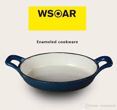 cast iron enamel cookware enameled cast iron blue enameld fry pan skillet wsoar red skillet
