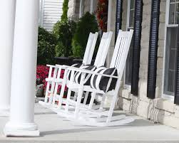 the yellow cape cod fall porch with hayneedle porch rockers