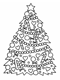 gorgeous christmas tree christmas coloring download