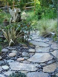 River Rock Garden Bed Rock Garden Path Section Of Garden Path Redesign River Rock