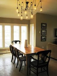 ideas rustic dining table with parson dining chairs on beige