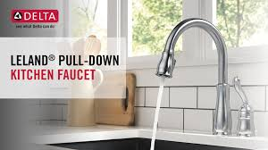 delta leland pull kitchen faucet delta leland single handle pull sprayer kitchen faucet in