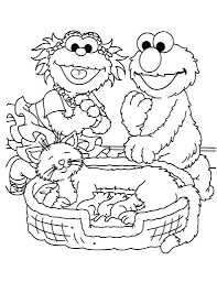 sesame street coloring pages print coloring