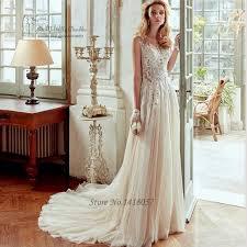 aliexpress com buy champagne boho wedding dress made in china