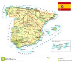Spain Map Spain Cities Map Spain Map Blank Political Spain Map With Cities