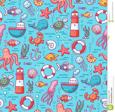 sea doodles color pattern stock photo image 31750770