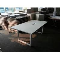 White Meeting Table Almost New 2 4m Conference Table For 8 Pax For Sale In Singapore