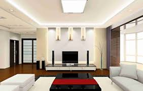 glorious ceiling designs for living room with white accent color
