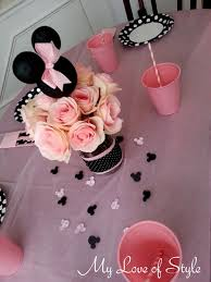 Centerpieces For Minnie Mouse Party by Diy Minnie Mouse Party Centerpiece Princess Birthday Minnie