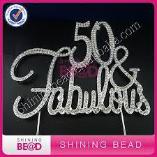 50 and fabulous cake topper 10 pcs lot 50 fabulous silver cake topper birthday premium