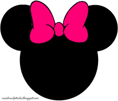 minnie mouse head blue scarf bow clipart clipartfest