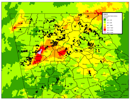 Rainfall Map Usa September 2009 Flood In North Georgia Nrcs Georgia