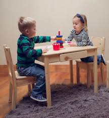 little colorado play table little colorado small arts and crafts table with open back chairs
