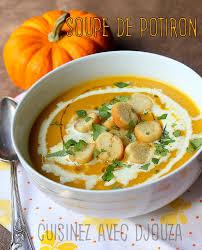 cuisine potiron soupe de potiron au poulet facile recettes faciles recettes