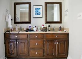 My Painted Bathroom Vanity Before - painting our bathroom vanity with opi emily a clark