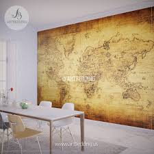World Map Wallpaper Mural by Wall Murals Wall Tapestries Canvas Wall Art Wall Decor Tagged
