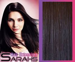 sarahs hair extensions thick 22 inch black no1b clip in human
