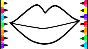 lips coloring pages how to draw lips and get big kiss coloring for