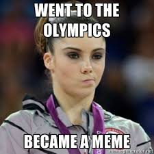 Maroney Meme - mckayla maroney went to the olympics became a meme gymnastics meme