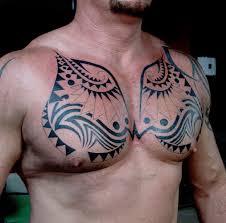 tribal chest tattoos for designs best design