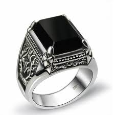 men rings jewelry images Cheap mens ring black stone find mens ring black stone deals on jpg