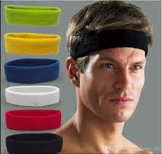 men headband купить оптом new cotton women men sport sweat sweatband headband