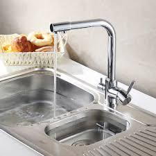 kitchen faucet with filter 3 way dual faucet water filter tri flow kitchen faucet mixer tap