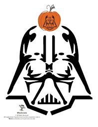Darth Vader Pumpkin Template wars pumpkin stencils woo jr activities